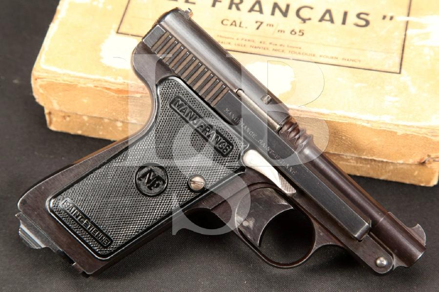 "RARE Manufrance Model Le Francais 'The Policeman', Tip Up Pistol, Blue 3 1/4"" Semi-Automatic Pistol, MFD Circa 1964 C&R"