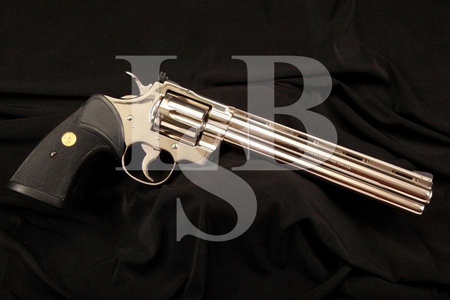 RARE Nickel Colt Python Target .38 Special Double Action Revolver – 1 of 251 Made
