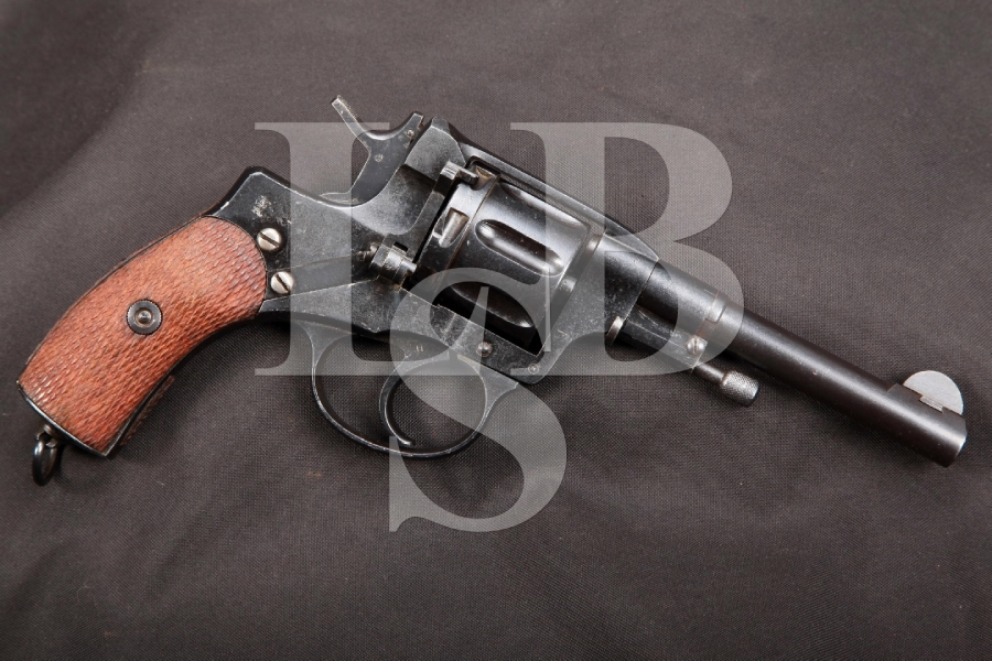 RARE Pre-Revolution Finnish Marked Russian Nagant Model 1895 Tula Arsenal Double Action Revolver, MFD 1915 C&R