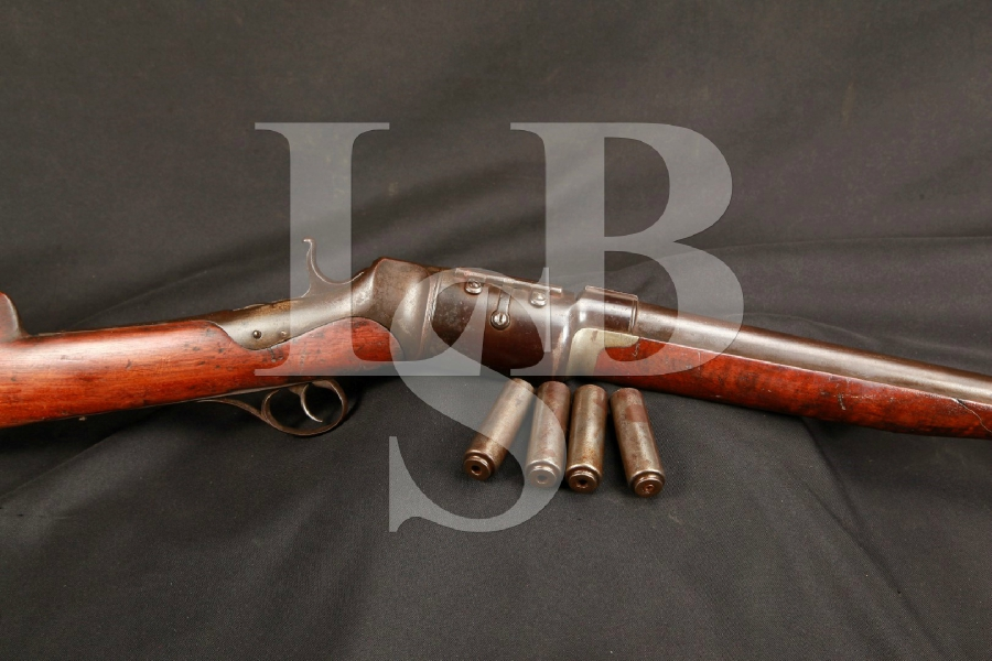 RARE Roper Repeating Rifle Company Revolving Shotgun & 4 Shell Cases, MFD 1869-1876 Antique
