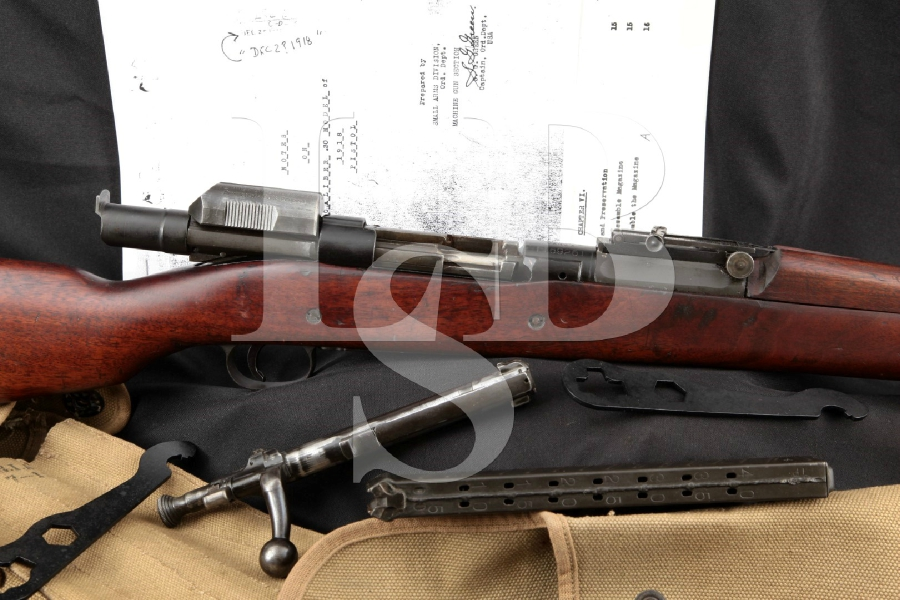 "RARE WWI Pedersen Device, Springfield Armory Model 1903 Mark I & Accessories, Parkerized 24"" Bolt Action / Semi-Auto Rifle & Magazine, 1920 C&R"