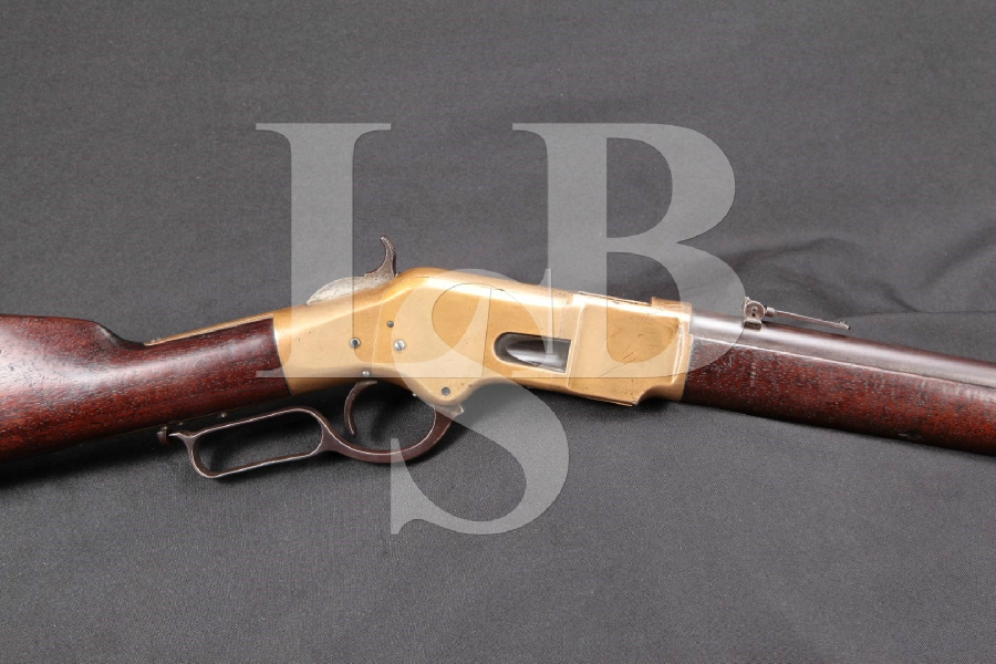 "RARE Winchester Model 1866 Musket, 3rd Model, Brass & Blue 27"" Lever Action Rifle, MFD 1870 Antique"