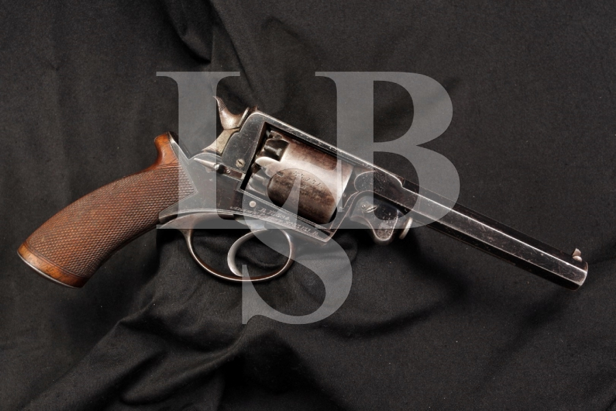 Rare Beaumont Adams .54 Caliber Cap & Ball Civil War Confederate Double Action Revolver – Antique
