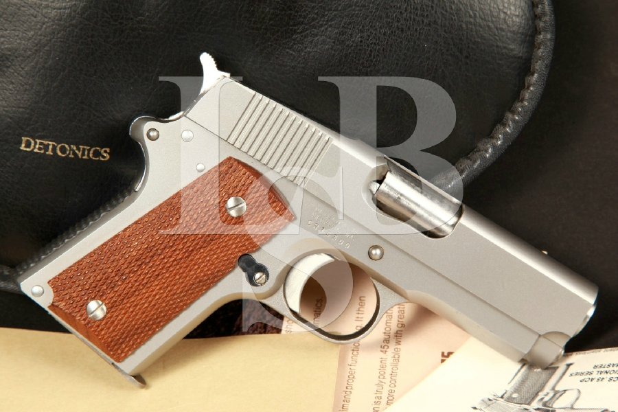 Rare Detonics Combat Master MK VII 3 1/2 Stainless Steel Semi-Automatic Pistol