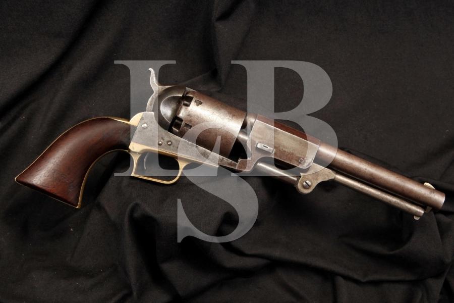 Rare Massachusetts Marked MS Original & Matching US Colt .44 2nd Model Dragoon