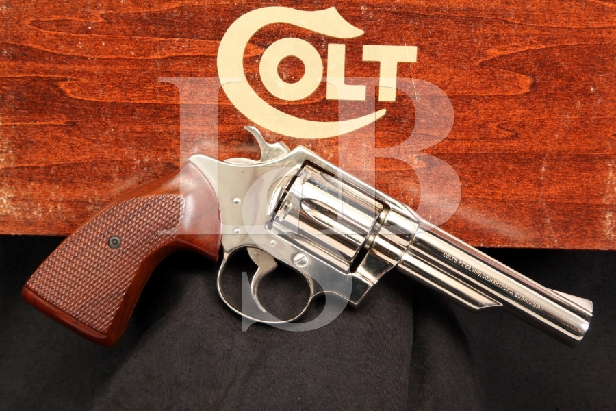 Rare Nickel Colt Viper Model .38 Special Double Action Revolver & Box