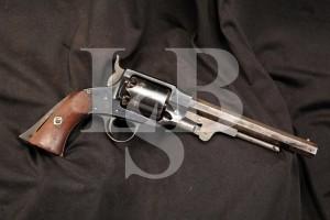 Rare U.S. Martially Marked .44 Caliber Percussion Rogers & Spencer Army Model Revolver, 1865 Antique