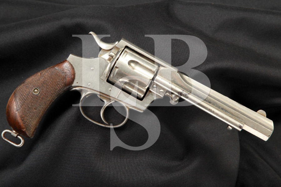 Rare Webley Number 5, #5 Army Express Double Action Revolver With Irish 'Trulock & Harriss' Markings, Antique