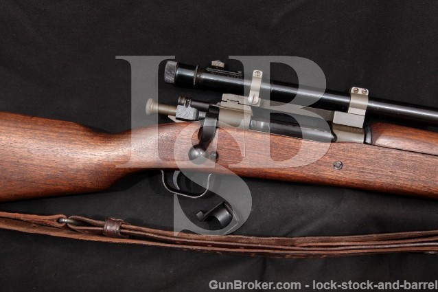 Remington 03-A4 1903A4 03-A3 Sniper .30-06 Bolt Action Rifle, Sling & M73B1 Scope 1944 C&R