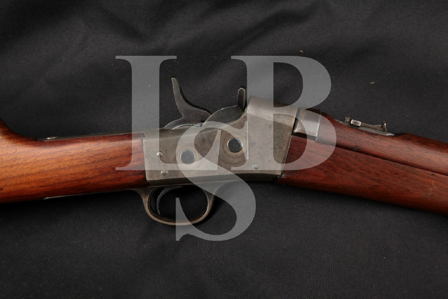 Remington Model No. 5 1902 Uruguayan Contract Saddle Ring Carbine, Blue & Case Colored 20 ½ -- Single Shot Rolling Block Rifle, MFD 1901-17 C&R