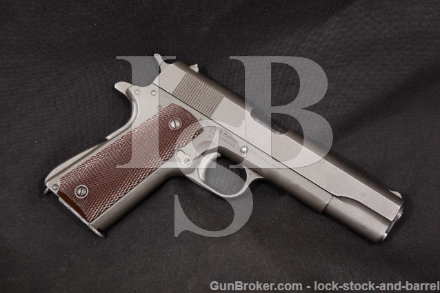 Remington Rand WWII U.S. Model 1911-A1 1911A1 .45 ACP Parkerized 5″ Semi-Auto Pistol, 1944 C&R