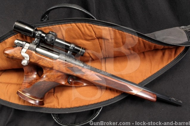 Remington XP100 .257 JDJ Single Shot Bolt Action Engraved Pistol w/ Ported Barrel, Leupold Scope