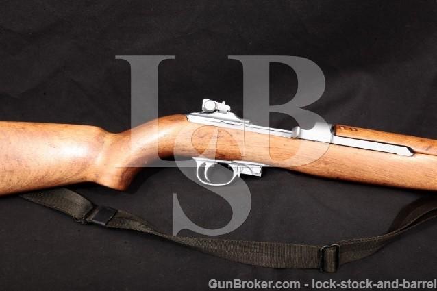 """Rock-Ola Rockola M1 Carbine Hard Chrome 18"""" C&R Military Semi-Automatic Rifle, 1944 .30 Carbine"""