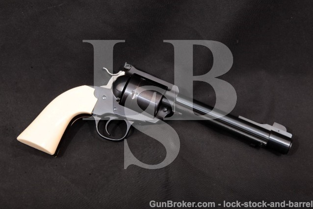 "Ruger Bowen Custom Blackhawk Bisley Big Bore 1995 Blue 6 1/2"" Single Action Revolver, .475 Linebaugh"