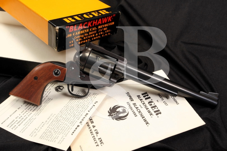 Ruger Old Model Blackhawk 1st Year Production .30 Carbine Revolver & Box