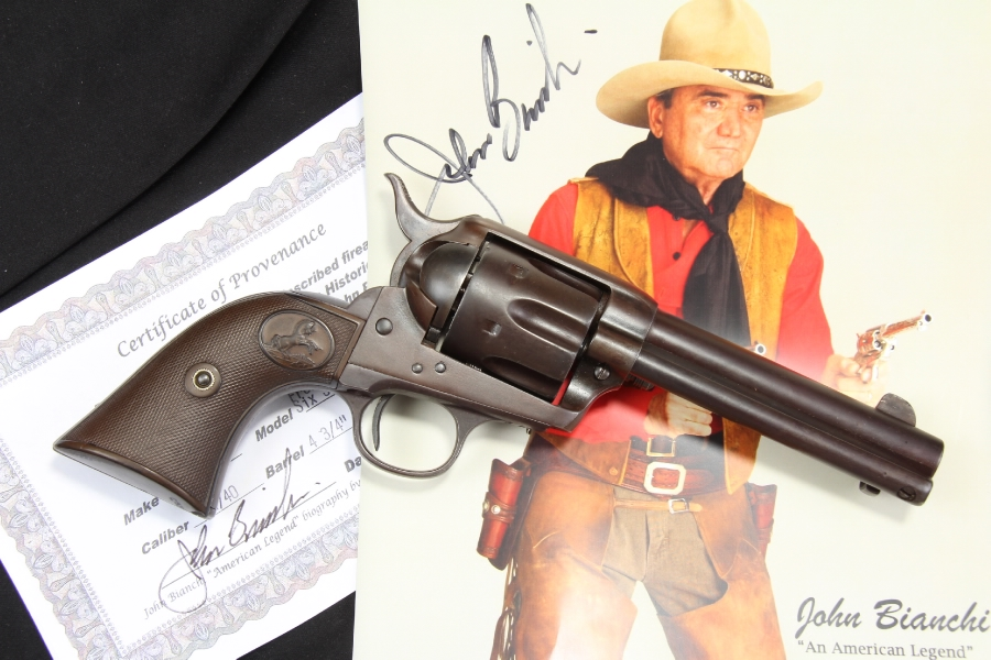 John Bianchi's Colt .44-40 WCF Frontier Six Shooter Revolver, Documented – C&R OK