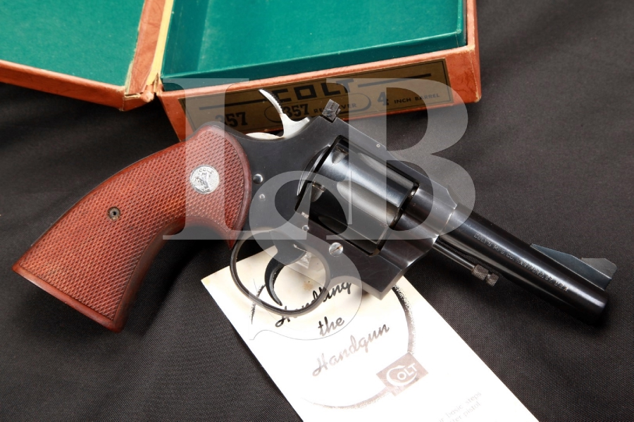 SERIAL NUMBER 4 – Colt Model .357 Magnum 4 Inch Blue Double Action Revolver & Box, 1954 C&R