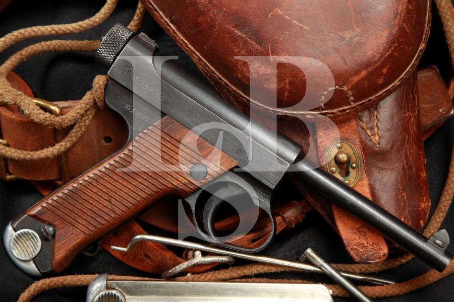 SHARP Toriimatsu Nambu Type 14 2nd Series Nambu WWII Semi-Automatic Pistol & Holster, MFD 1944 C&R