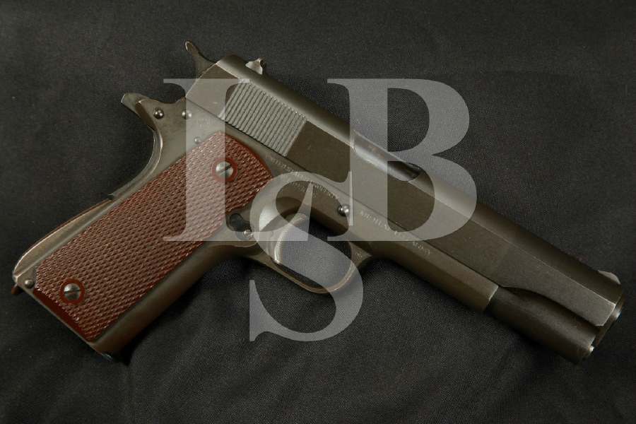 "SHARP WWII Colt Model 1911A1 1911-A1, 5"" SA Semi-Automatic Pistol, MFD 1944 C&R - .45 ACP"