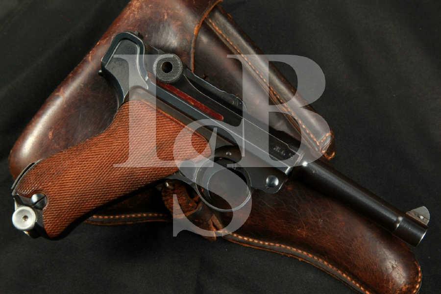 "SHARP WWII Mauser Model 1934 byf Luger, 3 15/16"" Matching Semi-Automatic Pistol, MFD 1941 C&R – 9mm Para."