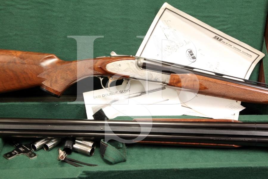 SKB 485 20 & 28 Ga Gauge SxS Side by Side Shotgun Set in Case w/ Chokes