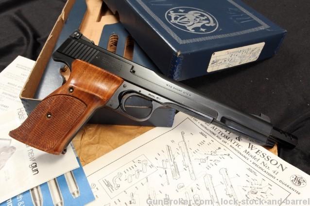 S&W Model 41-1 .22 Short Match Target Pistol & Box Smith & Wesson Semi Auto Pistol – BATF C&R OK