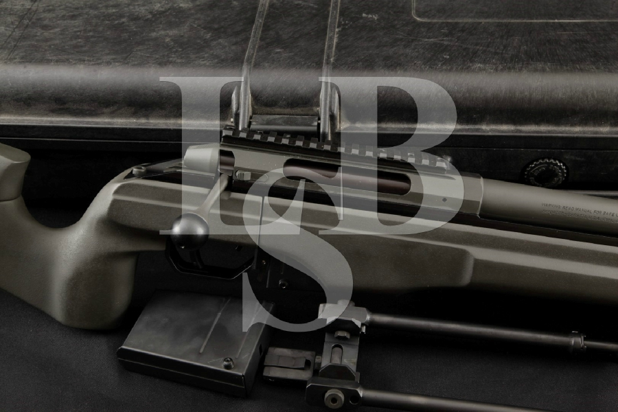 "Sako / Beretta Model TRG-42 TRG42, Cerakote Urban Grey Eurooptic 27 1/8"" Bolt Action Rifle, Pelican Case, Bipod & 2 Mags"