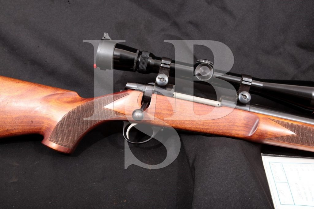 Sako Model Forester Heavy Bbl. Sporter, AII Action, Import Marked, Blued, 23 5/8 Bolt Action Rifle & Scope, MFD 1980 .220 Swift