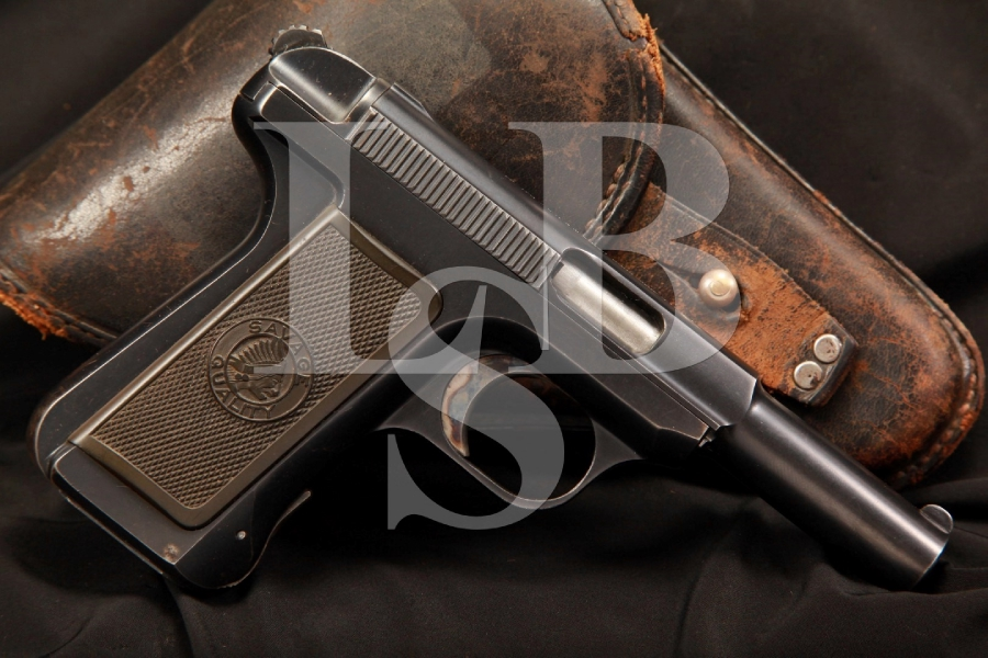Savage Model 1907 .32 ACP Semi Auto Pistol & Holster, MFD Pre-1913, C&R