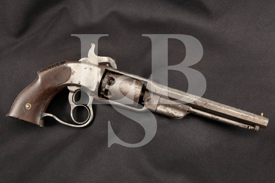 "Savage Revolving Fire-Arms Co. Navy Model, Rare Blue & Case Colored 7 1/8"" 6-Shot Civil War Era Revolver, MFD 1860's Antique"