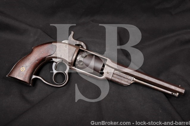 Savage Revolving Firearms .36 Caliber Percussion Single Action Revolver, MFD 1861-1865 Antique
