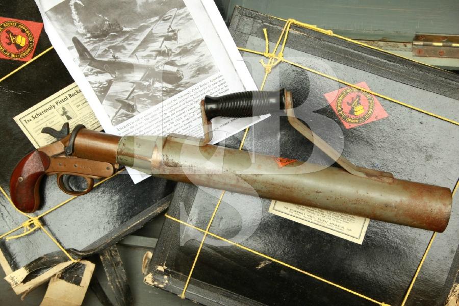 Schermuly Pistol Rocket Apparatus (SPRA) Limited, England in Original Crate & Line MFD 1920's – WWII