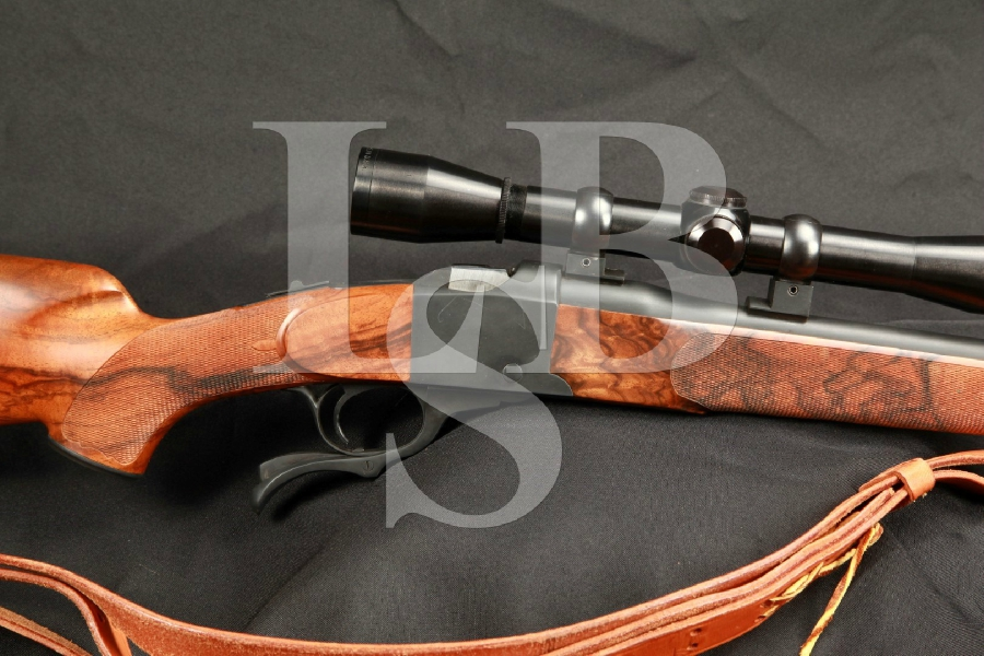 Serial Number 17 Custom Ruger Model No. 1 Single Shot Rifle 24 Rifle, Deluxe Wood, Sling & Leupold Scope WOW