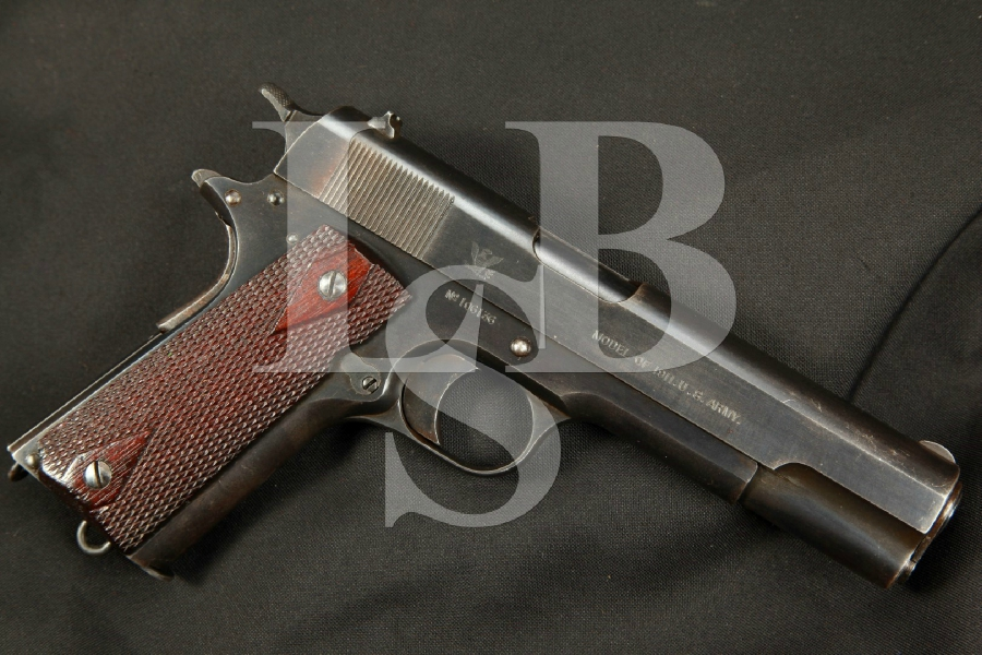 "Sharp & Rare WWI Springfield Armory Model 1911, Blue 5"" Semi-Automatic Pistol, MFD 1915 C&R"