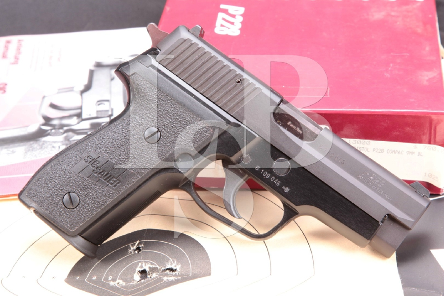 "Sig Sauer P228 Compact, Sigarms of Herndon Model P-228 Compact, Matte Black Nitron 3.9"" Semi-Automatic Pistol & Box, MFD 1989"