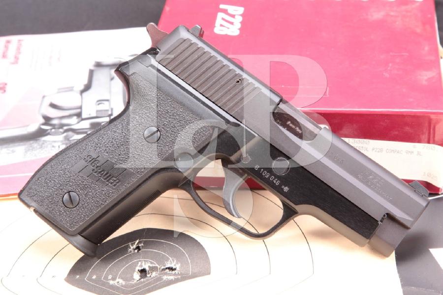 "Sig Sauer P228 Compact, Sigarms of Herndon Model P-228 Compact, Matte Black Nitron 3.9"" Semi-Automatic Pistol & Box, MFD 1989"