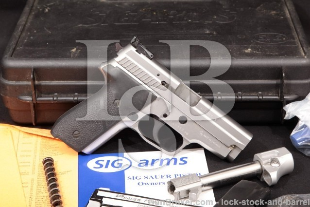 Sig Sauer P229S Sport Stainless 4 3/4″, .357 Sig Adjustable Sight Semi-Auto Pistol & Box, MFD 1999