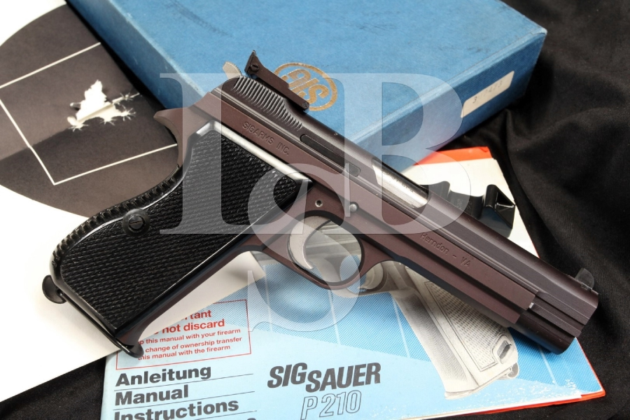 sig sauer sigarms p210 6 9mm semi automatic pistol swiss manufacture
