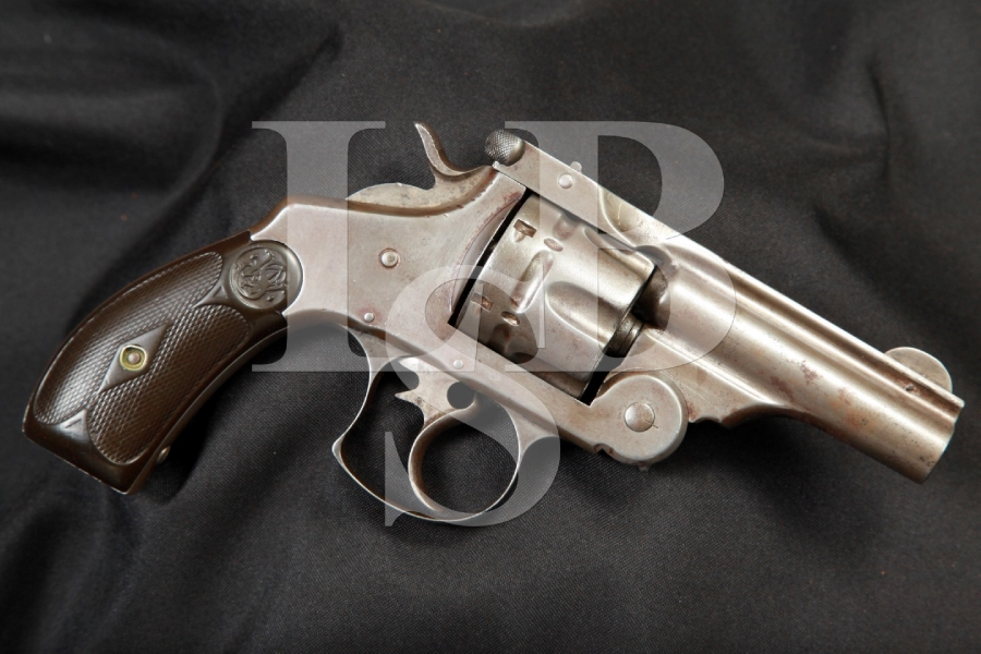 Smith & Wesson S&W .44 Double Action 1st Model Top Break Revolver, Cut Barrel, MFD 1880's Antique