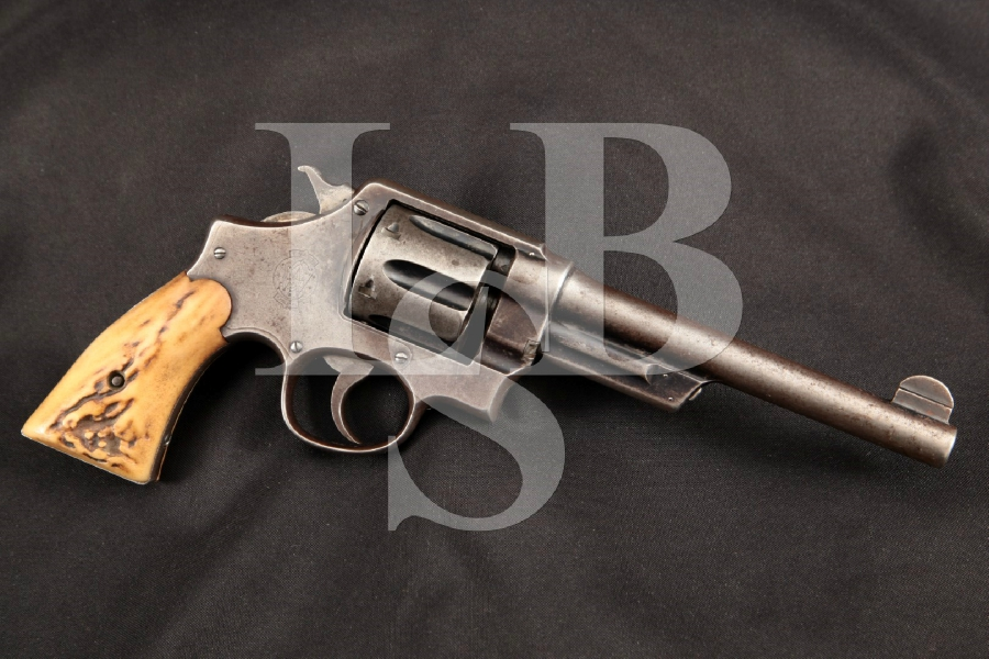 Smith & Wesson S&W .44 Hand Ejector 1st Model New Century Triple Lock, 2nd Year, Blue 6 1/2″ 6-Shot DA Double Action Revolver, MFD 1908 C&R