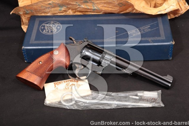 "Smith & Wesson S&W 16-2 The K-32 Masterpiece C&R Blue 6"" Pinned Revolver & Box, 1962 .32 S&W Long"