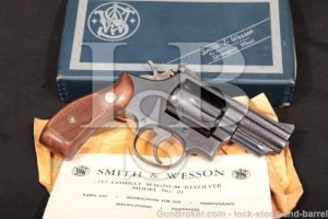 """Smith & Wesson S&W 19-3 2 1/2"""" .357 Combat Magnum Blue Pinned Double Action Revolver & Box 1968 C&R"""