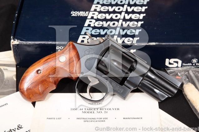 """Smith & Wesson S&W 24-3 Combat Lew Horton 100787 Blue 3"""" SA/DA Revolver & Box, 1984-1985 44 Special"""