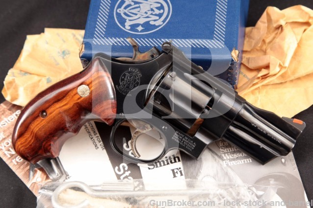 Smith & Wesson S&W 24-3 Lew Horton .44 Special 3″ Blue Double Action Revolver & Box, MFD 1983