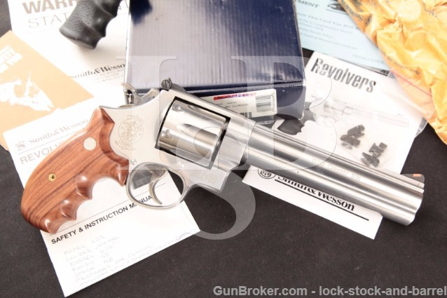 "Smith & Wesson S&W 629-4 Classic DX Deluxe .44 Mag Stainless 6.5"" Revolver, Sights, Box, Grips & MORE"
