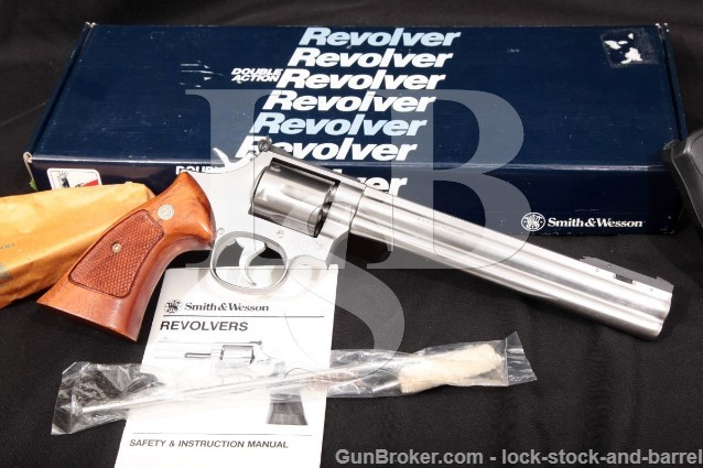 Smith & Wesson S&W 686-3 Adjustable Front Sight Stainless 8 3/8″ Double Action Revolver & Box .357