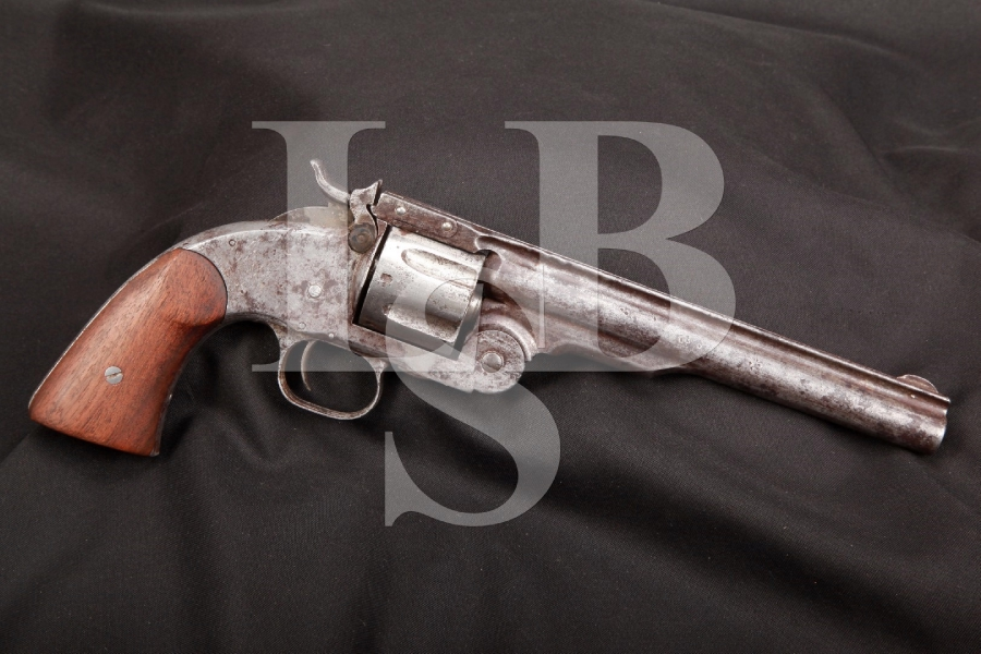 Smith & Wesson S&W, Assembled First Model Schofield Number 3 U.S. Army Single Action Revolver, MFD 1875 Antique
