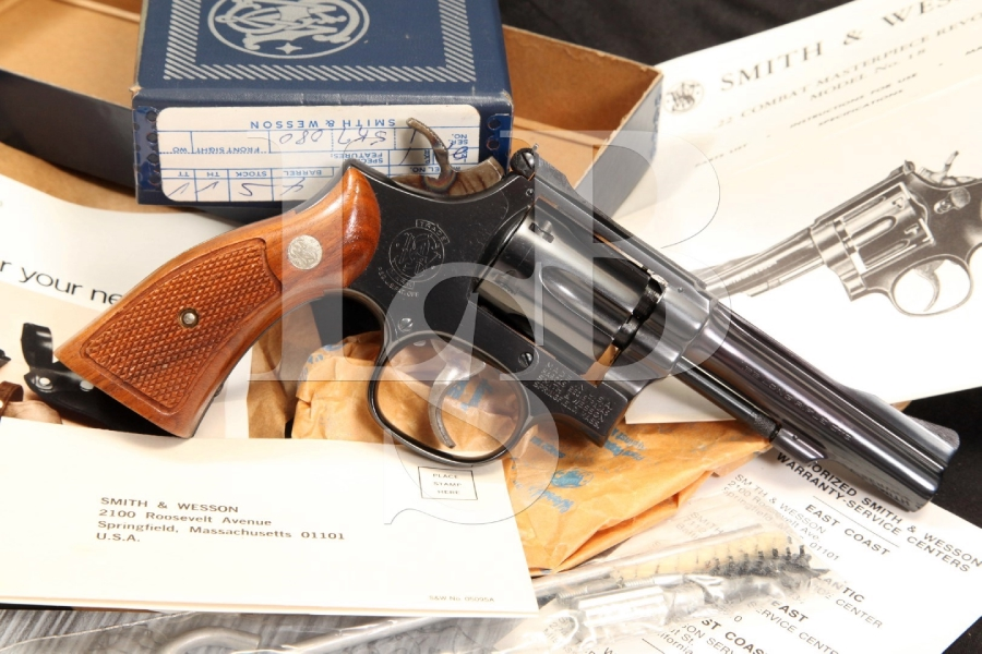 Smith & Wesson S&W Model 18-3 K-22 Combat Masterpiece .22 LR Revolver & Box