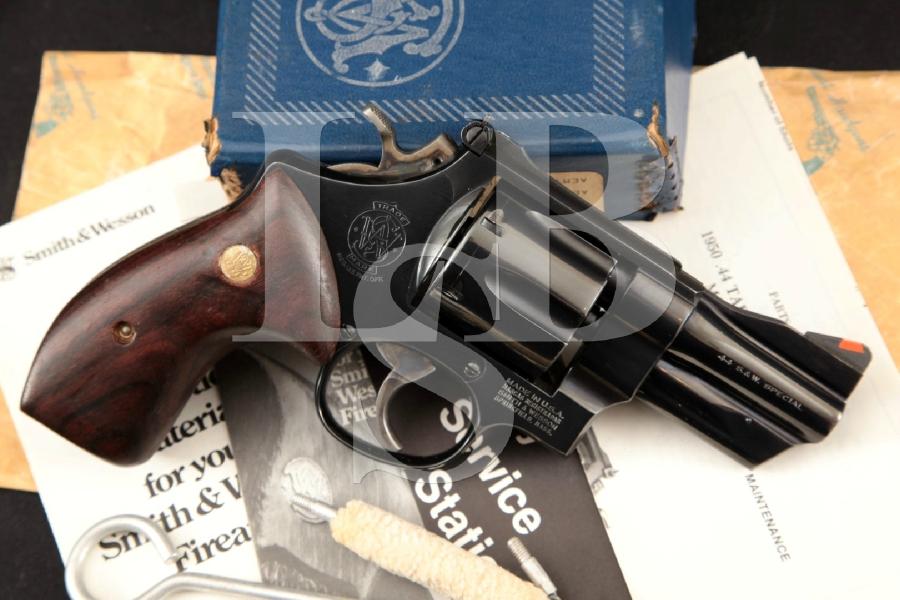 """Smith & Wesson S&W Model 24-3 Lew Horton Model 1950 Cat. No. 100787, Blue 3"""" 6-Shot, DA Double Action Revolver & Box, MFD 1984"""