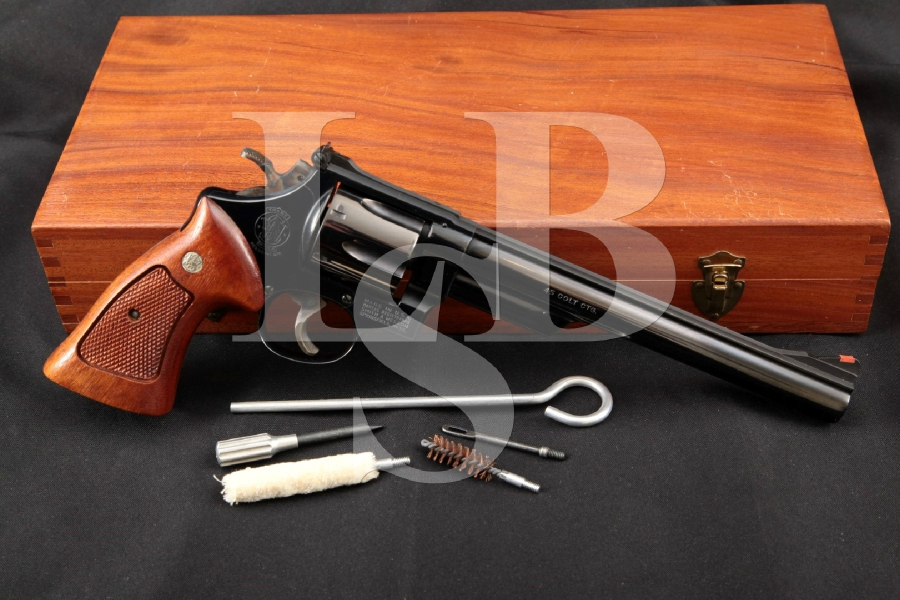 "Smith & Wesson S&W Model 25-5 'The 1955 Model .45 Target Heavy Barrel', Blue 8 3/8"" 6-Shot Double Action Revolver & Case, MFD 1980"